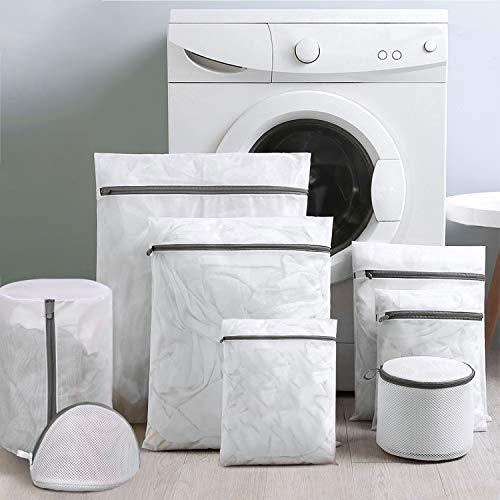 Wäschenetze Wäschebeutel Wäschesack für die Waschmaschine, haltbarer Netz-Wäschebeutel mit Reißverschluss ür Bettwäsche, Blusen, BHs, Strumpfwaren, Unterwäsche, Dessous und Babykleidung (8er Pack)