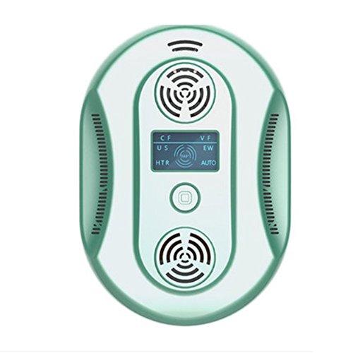 L&LQ Ultrasuoni Repellente Per Insetti, Scorpione, Guida Del Mouse, Pipistrello, Pallido, Mosca Geco E Zanzara Elettronico,Green