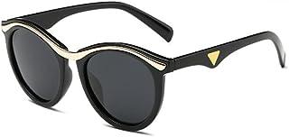 Hanpiyig - Hanpiyignstyj Gafas De Sol, Lentes polarizadas de Moda para Hombres Gafas de Sol de Moda Gafas de Sol polarizadas de Moda Redondo Gafas de Sol