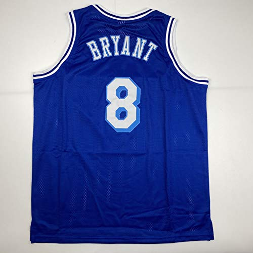 Unsigned Kobe Bryant #8 Los Angeles LA Blue Retro Custom Stitched Basketball Jersey Size Men's XL New No Brands/Logos