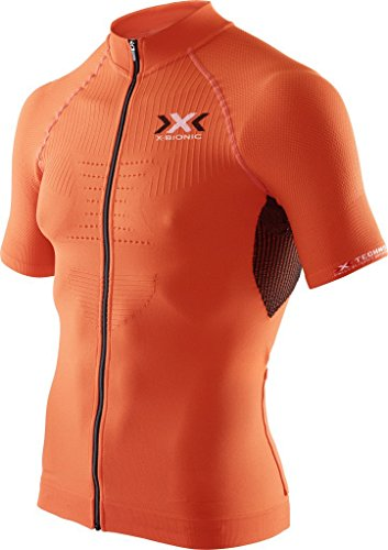 X-Bionic imperméable pour Adulte Biking on The Trick t-Shirt SH SL-Ow Tabouret Haut à Fermeture éclair intégrale Small Multicolore - Orange Sunshine/Black