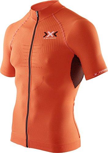 X-Bionic Biking Man The Trick - Maglia da ciclismo a maniche corte uomo,Multicolore (Nero/Arancia),S