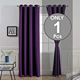 Divine Casa Blackout Curtains Thermal Insulated with Grommet Solid Door Curtains for Living