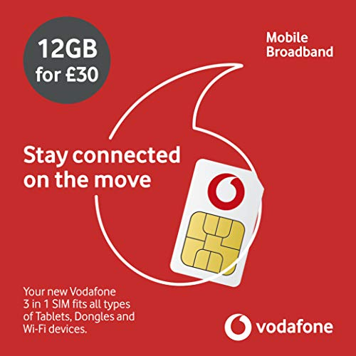 Vodafone Datensim: 12 GB, 365 Tage.