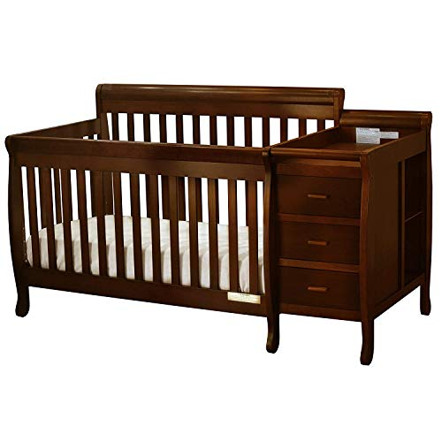 Athena Kimberly 3 in 1 Crib and Changer with Toddler Rail, Espresso