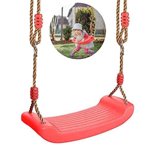 schaukel Outdoor Kinder,turnringe Kinder,Multifunktions Kinderholz Trapez,Turnringe Holz mit Kunststoff Ringe (zuohong)