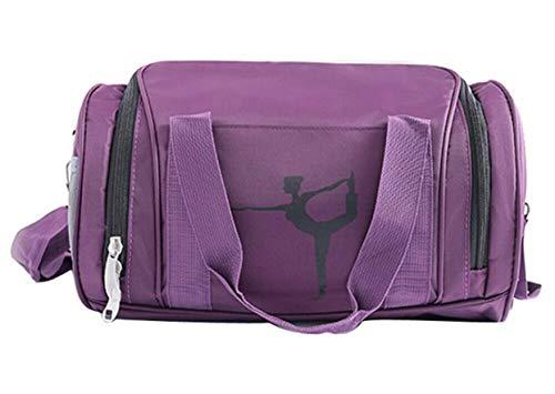Bolsa de danza para niñas, bolsa de gimnasia, bolsa de fin de semana, equipaje de mano