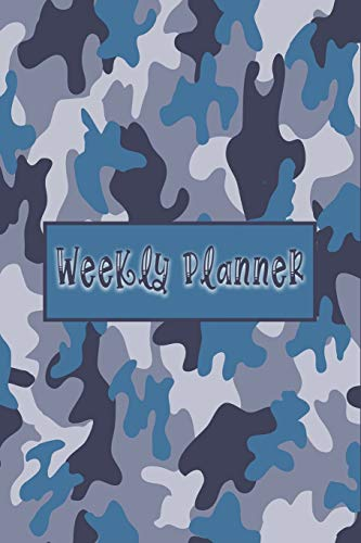 Weekly Planner - Cool Planner for Military: Perfect Gift for Military, Navy, Air Forces, Army With Navy Blue Camouflage Cover