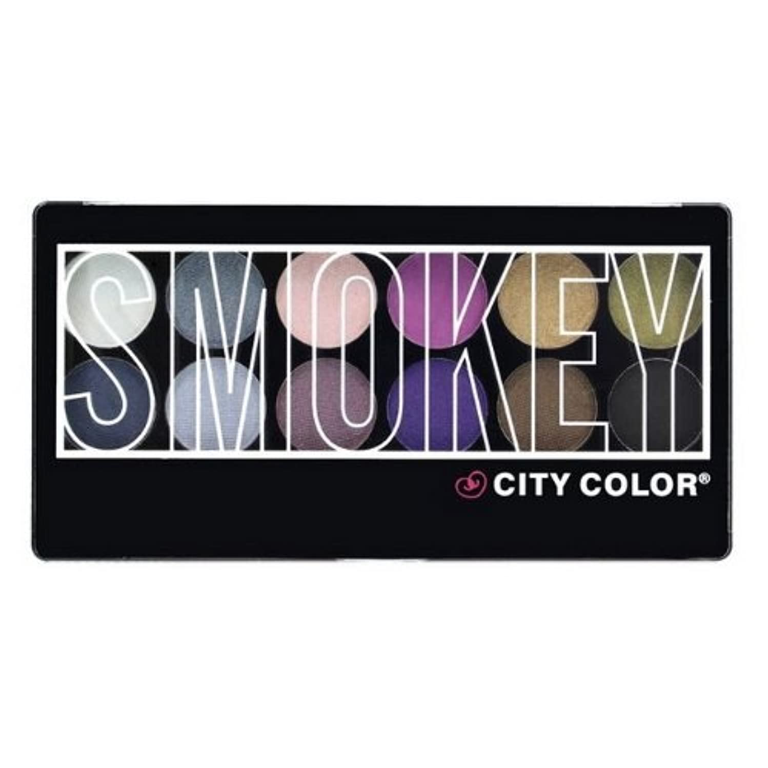 めったにランチ肉腫(6 Pack) CITY COLOR Smokey Eye Shadow Palette - 12 Shades (並行輸入品)
