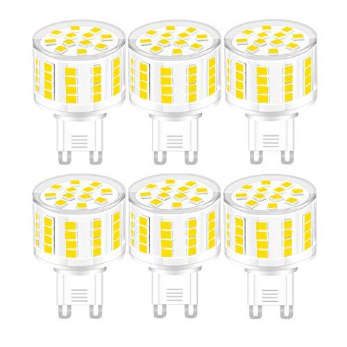 YWX G9 Lampadina LED,Dimmerabile Bianco Caldo 3000k G9 5W Equivalente 45W Lampadine Alogene No Flicker Lampada LED 360° Angolo a Fascio AC 220-240V 6 Pezzi