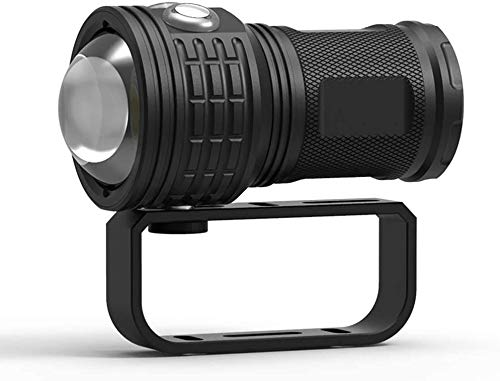 luz submarina fotografía luz de buceo linterna con la lámpara de mazorca perlas luces y modos de ángulo de haz de grado ipx impermeable m para la foto