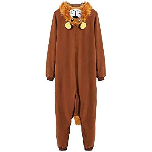 Uomini Kigurumi Animal Pajama Cartoon Onesies per Adulti...