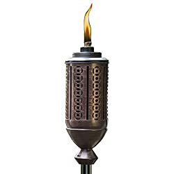 in budget affordable Cabos metal flashlight, 65 inches, bronze, Tiki brand