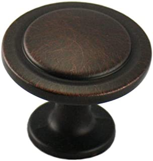 Cosmas 5560ORB Oil Rubbed Bronze Cabinet Hardware Round Knob - 1-1/4