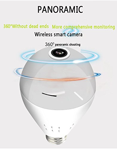 QMZB Sicherheitskameras, kabellos, Mini,960P HD Panorama 360 Grad, Bewegungserkennung