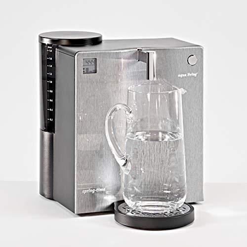 Aqua Living welcon.de - Wasserfilter Spring-Time H2 Premium inkl. Karaffe, Front Edelstahloptik - EIN Angebot von WELCON