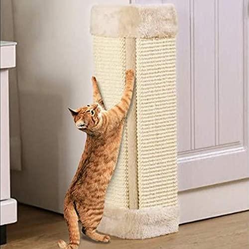 Queiting Cat Corner Sisal Wall Scratcher Pet Kitten Hanging Scratching Post Board Sisal Scratcher Pad for Sofa bed Wall Furniture