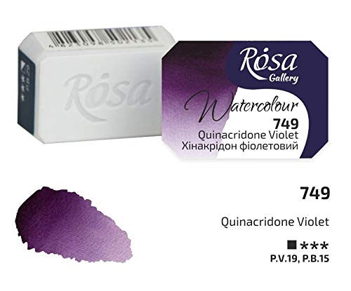 Pintura de acuarela profesional, 2,5 ml, media sartén, galería ROSA, calidad de artista Quinacridona Violeta