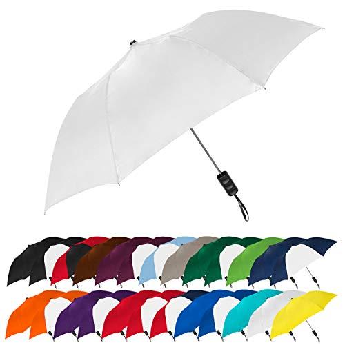STROMBERGBRAND UMBRELLAS Spectrum Popular Style Automatic Open Close Small Light Weight Portable Compact Tiny Mini Travel Folding Umbrella for Men and Women, White