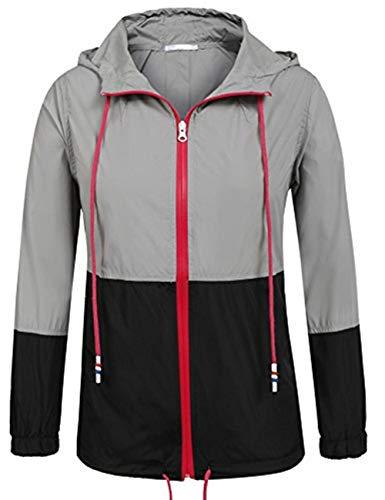 UNibelle Dames Waterdichte Regenjas Outdoor Hooded Regenjas Windbreaker S-XXL Zwart