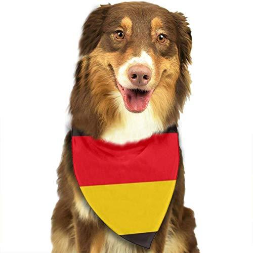 HomeLEE Giraffen en harten hond Bandana hals sjaal schattige puppy en huisdier verjaardag Bandana sjaals, driehoek Kerchief voor partij, bruiloft, Puppy kleine en middelgrote huisdier, Eén maat, Germany Flag Repeat