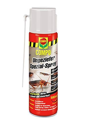 COMPO Ungeziefer Spezial-Spray, Sofort- und Dauerwirkung, 500 ml