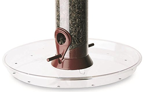Droll Yankees Bird Feeder Tray, Platform Seed Catcher Accessory Attachment, Clear, OMT