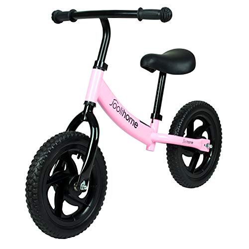 Balance Bike for 2 3 4 5 6 Years Old Boys Girls, Carbon Steel Frame No...