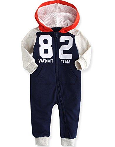 Vaenait baby 50–92 Maedchen Infant Jumpsuit Rompers Baby Vaenait équipe 82 - Bleu -