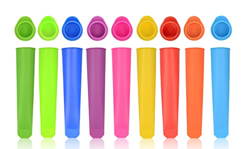 iNeibo Silicone Popsicle Molds ice Pop Mold - Set of 10 Tubes - Food Grade - Freezer Tubes Make Healthy Food for Your Kids