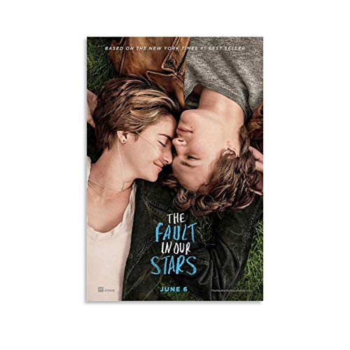 ASDSH The Fault in Our Stars Movie Posters Posters for Room Aesthetic Poster Decorative Painting Canvas Wall Art Living Room Posters Bedroom Painting 08x12inch(20x30cm)