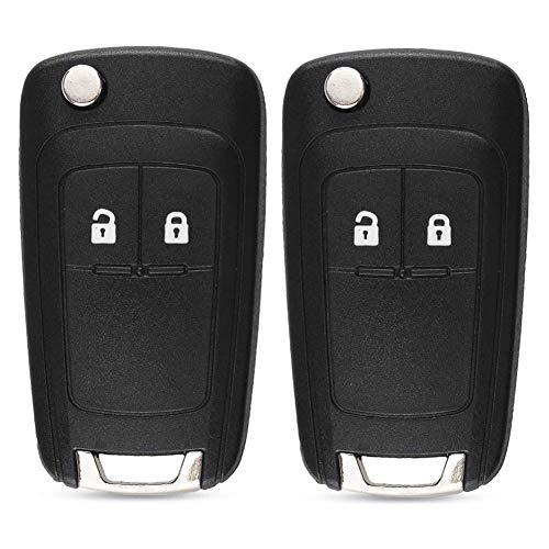 Kelay 2 Tasten Autoschlüssel Gehäuse Fernbedienung Ersatz kompatibel für Opel Buick Astra Insignia Vectra Chevrolet Cruze Aveo Spark Captiva Orlando black-2 pcs