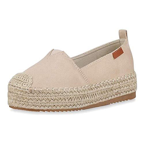 Minetom Mujer Chicas Moda Lona Zapatos Punta Redonda Tac/ón Plano Espadrilles Ocio Zapatos