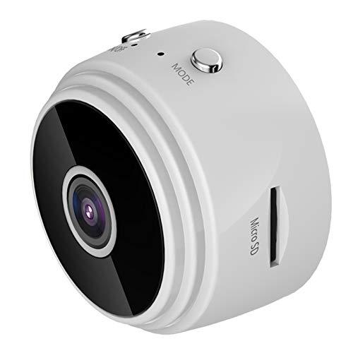BAHER Mini cámara oculta, 1080P HD WiFi cámara espía, cámara de vigilancia para niñera con visión nocturna, imán integrado, detección de movimiento, aplicación remota, para interiores y exteriores