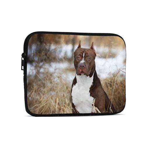 Bolsa para portátil American Pit Bull Terrier iPad Estuche de Transporte Compatible con iPad 7,9/9,7 Pulgadas Bolsa Protectora de Neopreno a Prueba de Golpes con Cremallera y asa con Corr