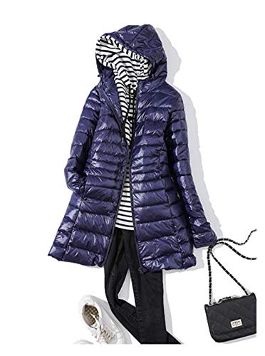 Chaquetas de plumón para mujer nuevas chaquetas de invierno para mujer, color azul marino, talla 5XL)