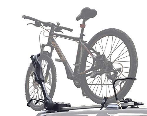 ZKORN Soporte para Bicicletas, Aluminio Portabicicletas de Techo Coche Coche Bicicleta de Carretera Marco Doble Bloqueo Adecuado para Viajes Familiares, entusiastas del Ciclismo