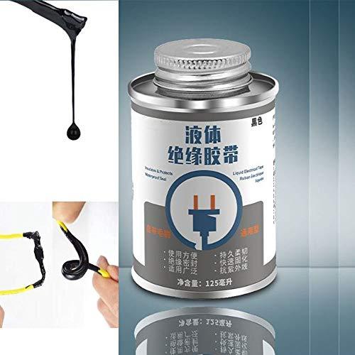 Flüssiges elektrisches Klebeband, wasserdichtes elektrisches Isolierband für die Kabelreparatur und -versiegelung, für den Innen- und Außenbereich mit hoher Temperaturbeständigkeit (1 Flasche, Weiß)