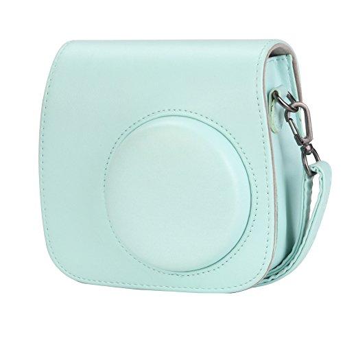 Anter Tasche für Fujifilm Instax Mini 8 8+/Mini 9 Sofortbildkamera aus Weichem Kunstleder mit Schulterriemen und Tasche - Ice Blue