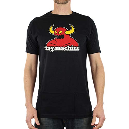 Toy Machine Monster - Camiseta de Manga Corta, Color Negro