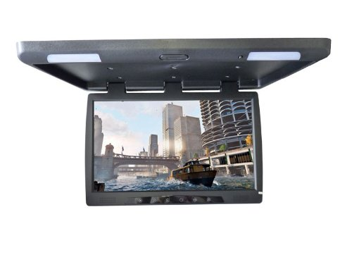 56 cm 22 Zoll Inch TFT LCD HD Video Deckenmonitor Flipdown Monitor für Bus Auto Wohnmobil KFZ PKW mit zwei Videoeingängen schwarzYMPA LCM-FD22