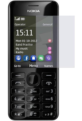 dipos I 2X Schutzfolie klar kompatibel mit Nokia Asha 206 Dual SIM Folie Bildschirmschutzfolie