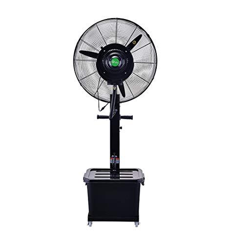 Ventiladores Ventilador de pulverización de nebulización de enfriamiento oscilante Grande para humidificador de Negocios de la Industria al Aire Libre 220W / 40L (Negro) Ahorra energía