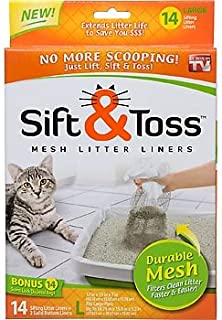 Carol Wright Gifts As Seen On TV Sift & Toss Mesh Litter Liners(Size-Large) 14 Liners