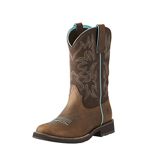 ARIAT Women's Delilah Round Toe Western Boot Brown