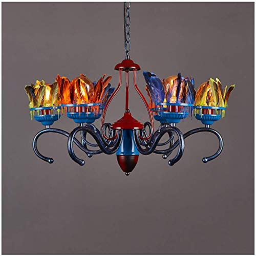 Feder Decken Kronleuchter, Loft Bar Gotik Lampe Vintage Leuchte Kreative Licht Schatten Metall...