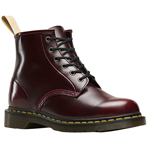 Dr.Martens Unisex 101 Vegan Cambridge Brush Synthetic Cherry Red Stivali 46 EU