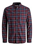 Jack & Jones Jjeclassic Denver Check Shirt L/S STS Camisa, Port Royale, M para Hombre