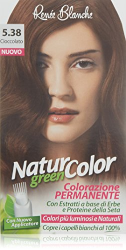 teinture pour les cheveux coloration permanent naturel natur color greenn 538 cioccolato