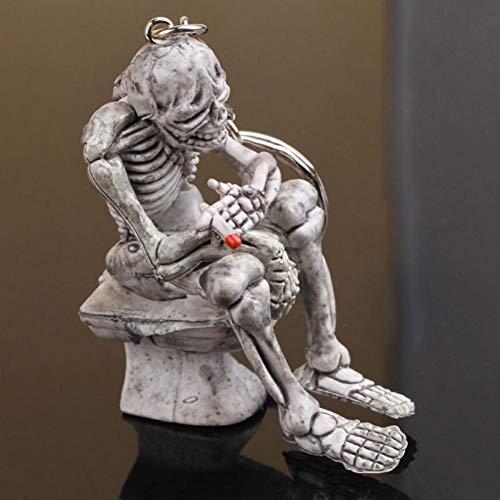 Mode Mooie creatieve schedel toilettas sleutelhanger cadeau sleutelhanger 3D hanger mode cadeau